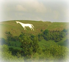 The White Horse. (Pics_by_L) Tags: uk chalk landmark hillside wiltshire whitehorse