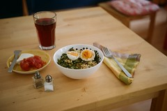 lunch on film (+1) (Maronasc) Tags: food table lunch comida huevos eggs mesa almuerzo retinetteia unaporcinymedia