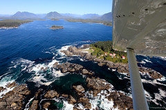 Lennard Island Lighthouse by floatplane (courtesy Tofino Air). (Rudgr.com) Tags: travel camping mountain canada vancouver port river bc cove britishcolumbia salmon grouse nanaimo victoria vancouverisland tofino porthardy campbell camper telegraph 2009 vancouverbc kamperen sooke grousemountain hardy campbellriver reizen anwb telegraphcove camperreis