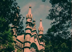 Mount Auburn (Mel Grear) Tags: trees color building film cemetery boston 35mm auburn scan mount filmscan mountauburn colorfilm