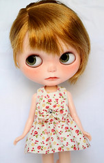 Nicky (Aya_27) Tags: flower cute floral bigeyes doll sweet bow lad handsewn blythe lovely custom nicky dollie freackles inhand dressbyme nickylad