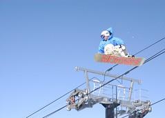 Over The Lift (dualdflipflop) Tags: mountain snow sports sport snowboarding jump nikon nikond100 sigma skiresort mammoth snowboard d100 dslr mammothmountain bobbygeorge sigma2870mmf284d 10bobbygeorge