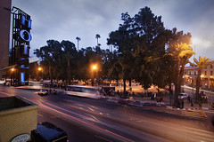 (hireen) Tags: longexposure bus night canon noche morocco maroc marrakech marrakesh marruecos parada autobs eos450d hireen