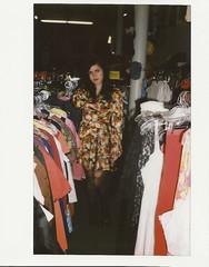 (emilyupsidedown) Tags: film self vintage 60s dress alt ripped tights clothes lipstick hip instanx
