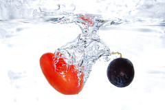 [ S p l a s h ] (RíchÝ) Tags: orange water beautiful drops focus awesome clear splash tomatos clearity
