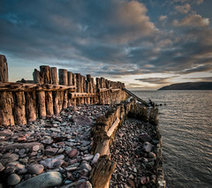 First Light At Porlock Weir (_ justintheframe_) Tags: sunrise nikon harbour somerset groins porlockweir tonemapped d300s justintheframe