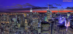 another attempt at through-the-dirty-window photography (Jason Pierce Photography) Tags: city sunset cityscape manhattan cityscapes midtown scape newyorkcityphotography mygearandme nyccityscapes newyorkcitycityscapes