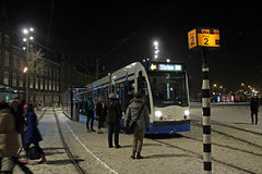 Stationsplein - Amsterdam (Netherlands) (Meteorry) Tags: winter people snow cold holland public netherlands amsterdam weather evening europe hiver transport nederland siemens tram arctic neige centraalstation february streetcar soir 13g tramway paysbas froid 2012 noordholland gvb stationsplein combino stadsarchief meteorry publique hivernal