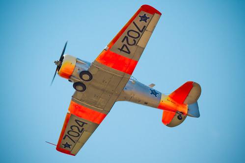 Orange flying
