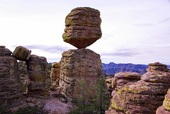 Big Balanced Rock formation - Chiricahua National Monument (Al_HikesAZ) Tags: county camping arizona usa monument rock big hiking path az hike adventure formation trail national rhyolite cochise balanced hoodoos chiricahuas tuff welded rockformation chiricahua balancedrock cochisecounty weldedtuff chiricahuanationalmonument balancedrocktrail bigbalancedrock azhike alhikesaz