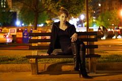 Rebecca in Dupont (kingpinphoto) Tags: rebecca streetlights dupontcircle nightportrait joeldidriksen wwwkingpinphotocom