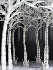 Twilight Paper Trees (Carlos N. Molina - Paper Art) Tags: