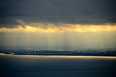Burlington the Good (Johnath) Tags: winter light sky cloud sun toronto tourism burlington dark ray oakville 2012 crepuscular blogto torontoist