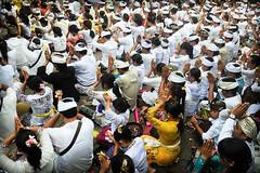 Hindu Prayer (Leonid Plotkin) Tags: bali indonesia religious temple asia traditional prayer religion pray praying ceremony celebration ritual tradition hindu hinduism rite batukaru