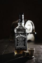 Jack Daniel's (Davide Bon) Tags: light vintage jack photography bottle nikon commercial jackdaniels strobes 35mm18 vsco nikond7100 vscofilm