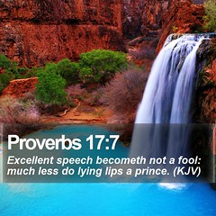 Daily Bible Verse - Proverbs 17:7 (daily-bible-verse) Tags: jesus gospel scriptures jesusislord thetruth