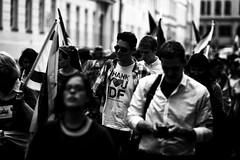 . (Thorsten Strasas) Tags: berlin germany de demo march israel holocaust shoa cathedral flag banner cdu brandenburggate judentum demonstration jews transparent brandenburgertor mitte fahne flagge antisemitism juden gedenken knesset scheunenviertel mdb schwarzweis vicespeaker antisemitismus mahnung marschdeslebens jomhaschoa vizesprecher