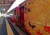 Kimono-clad attendant greets passengers at Wakura-Onsen Station IMG_2744 JR Special train (Recliner) Tags: japan specialtrains