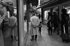 Double (mformarica on Instagram) Tags: old venice blackandwhite man reflection streetphotography vetrina venezia nonno