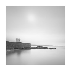 |^^^| (Nick green2012) Tags: blackandwhite seascape tower long exposure shoreline rocky headland