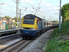 East Midlands Trains HST headed by 43073 passing through Flitwick (Mark Bowerbank) Tags: by trains east passing through headed midlands hst flitwick 43073