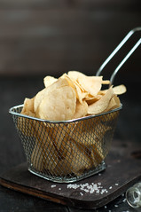 Crispy potato chips (lyule4ik) Tags: ranch wood food hot yellow lunch cuisine golden wooden junk background space fat spice rustic salt fast tasty bowl fresh chips delicious crispy crisp eat potato taco slice pile snack meal fatty chip appetizer spicy sliced fried dip heap copy nacho crunchy snacking unhealthy dipping calories prepared salted fattening countrystyle