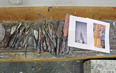 Tools of the Artist (skipmoore) Tags: art painting artist knives sausalito openartistsstudios
