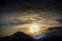 Live (cheyzan) Tags: blue winter sunset sky naturaleza sun mountains ice sol nature silhouette alaska clouds atardecer cielo silueta hielo montaas