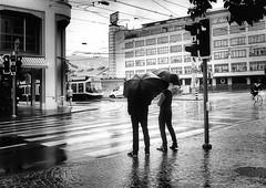 Obey the red man (Thomas8047) Tags: street city people urban streetart art blancoynegro monochrome rain umbrella schweiz switzerland nikon flickr candid zurich fine streetlife streetscene streetphoto zrich regen ch personen onthestreets zri stauffacher regenwetter ober 2016 streetphotographer stadtansichten blackandwithe schwarzundweiss stadtzrich streetpix d300s streetartstreetlife iamnikon snapseed fineartstreetphotography thomas8047 strassencene zrigrafien zrichstreets hofmanntmecom beirotbleibestehn obeytheredman