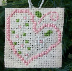 cuore (LaPaTs) Tags: christmas cross stitch ornament