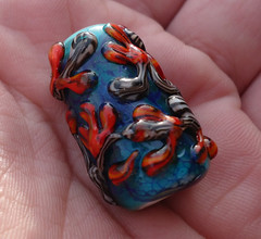 cherry 1 (kitzbitz art glass by Jolene) Tags: glass vines lampwork floralbeads