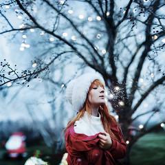 ill give you winter if you wish. (karrah.kobus) Tags: christmas winter snow cold girl lights
