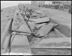 Surf, Winthrop, damaged railing, etc. (Boston Public Library) Tags: weather storms floods lesliejones