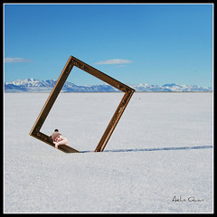 Innocence (Aelin Quan) Tags: winter baby white lake snow cold ice photomanipulation desert hiver digitalart surreal lac frame innocence photomontage neige blanc froid bb cadre glace 120107 platinumheartaward aelinquan doubleniceshot tripleniceshot
