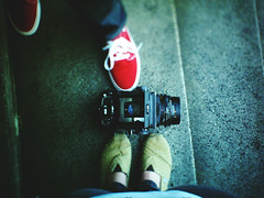 photo adventures in dt orlando (juliaarielle) Tags: mamiya vans toms tiltshift rb67