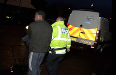 Operation Audacious (Greater Manchester Police) Tags: drugs raid lawenforcement arrest gmp suspect handcuffed britishpolice policeraid policeforce ukpolice greatermanchesterpolice policeoperation operationaudacious opaudacious