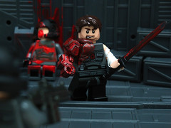 Red Steel ([N]atsty) Tags: red blood steel ba minifig custom minifigure saidai brickarms minifigcat