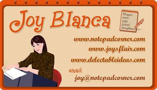Blogger card I designed for Joy