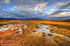Alkaline Sunset (James Neeley) Tags: california sunset landscape mammothlakes hdr 5xp jamesneeley flickr23 alkalineponds