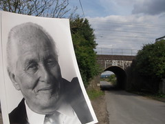 Ronnie Biggs @ Bridego Bridge (Ronnie Biggs The Album) Tags: ronnie biggs greattrainrobbery oddmanout ronniebiggs ronaldbiggs