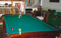 Ron's famous snooker table in Rio. (Ronnie Biggs The Album) Tags: ronnie biggs greattrainrobbery oddmanout ronniebiggs ronaldbiggs