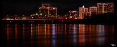"Illumination (L.A. Mathews) Tags: christmas city bridge light red sky holiday black color water night river dark anne virginia photo nikon holidays rich picture illumination pic richmond lesley muse va miss jpeg rva ""nikon anne"" d7000 missredmuse ""lesley d7000"" ©2011 musepicture"