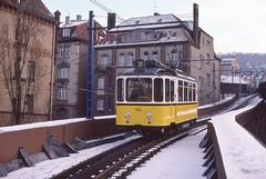 1978-01-08, Stuttgart, Marienplatz (Fototak) Tags: stuttgart tram 104 strassenbahn ssb zahnradbahn ligne30