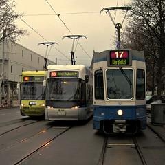 Tram Zürich 2011 - Die neue Linie 17 (hrs51) Tags: new west schweiz 2000 cobra suisse zurich tram line hauptbahnhof 17 zürich streetcar svizzera tramway nord altstetten neue strassenbahn züri gessnerallee tramlinie werdhölzli