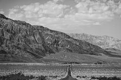 On the Road Again (Thomas Hawk) Tags: california bw usa clouds unitedstates desert unitedstatesofamerica deathvalley deathvalleynationalpark natureshand