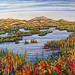 Lower Saranac - Autumn, oil on canvas. Artist: Nancy Brossard