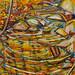 Autumn Falls - Massawepie, oil on canvas. Artist: Nancy Brossard