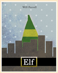 Elf (2003) (Jon Glanville) Tags: santa christmas buddy elf fatherchristmas elves northpole jovie willferrell zooeydeschanel minimalistfilmposter