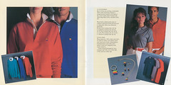 The Apple Collection, 1983 (Pages 4-5) (endless lazlo) Tags: keychain merchandise catalog earrings 1983 poloshirt swag pendant applecomputer appleii lapelpin tietack cottonjersey