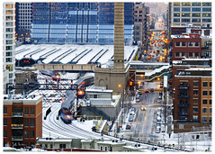 West Loop, Just Because… (swanksalot) Tags: train metra cta 18mm200mm 42ndward beauxarts clinton track chicago amtrak westloop blur citi citicorphq f220 2secondexposure 105mm faved fav10 fav20 explored urbanseens